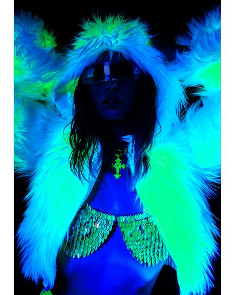 Atomic Light Up Faux Fur Jacket