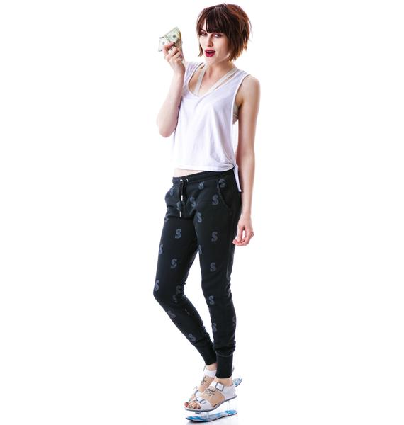 Zoe Karssen Dollar All Over Loose Fit Sweatpants