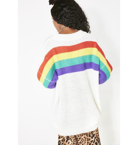 Whole Mood Rainbow Sweater