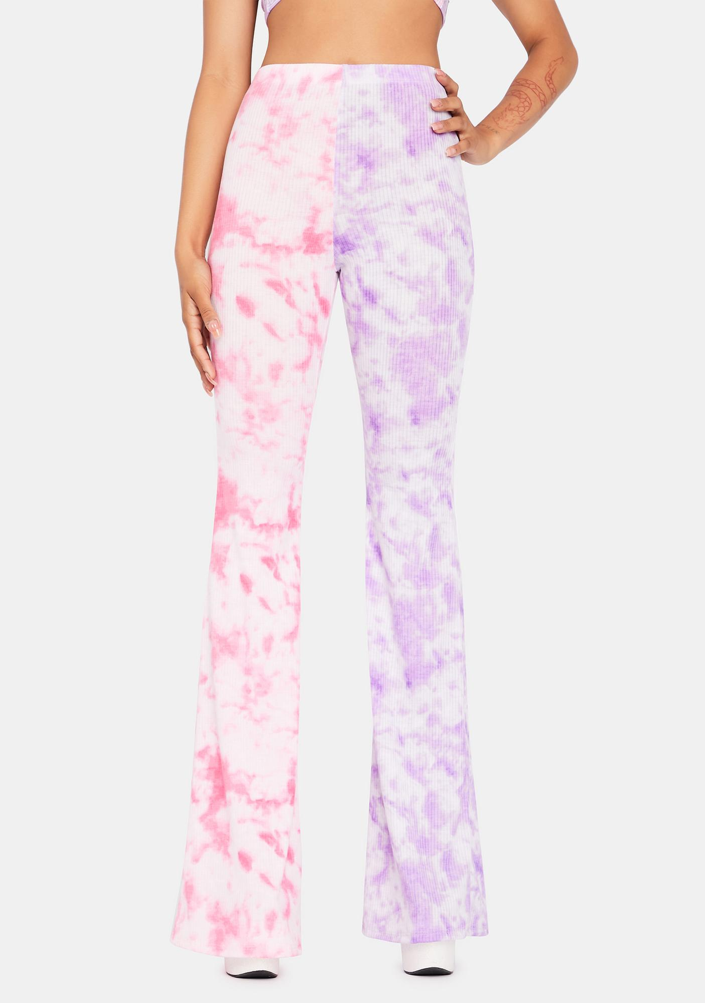 Turn Up The Sass Tie Dye Flare Pants