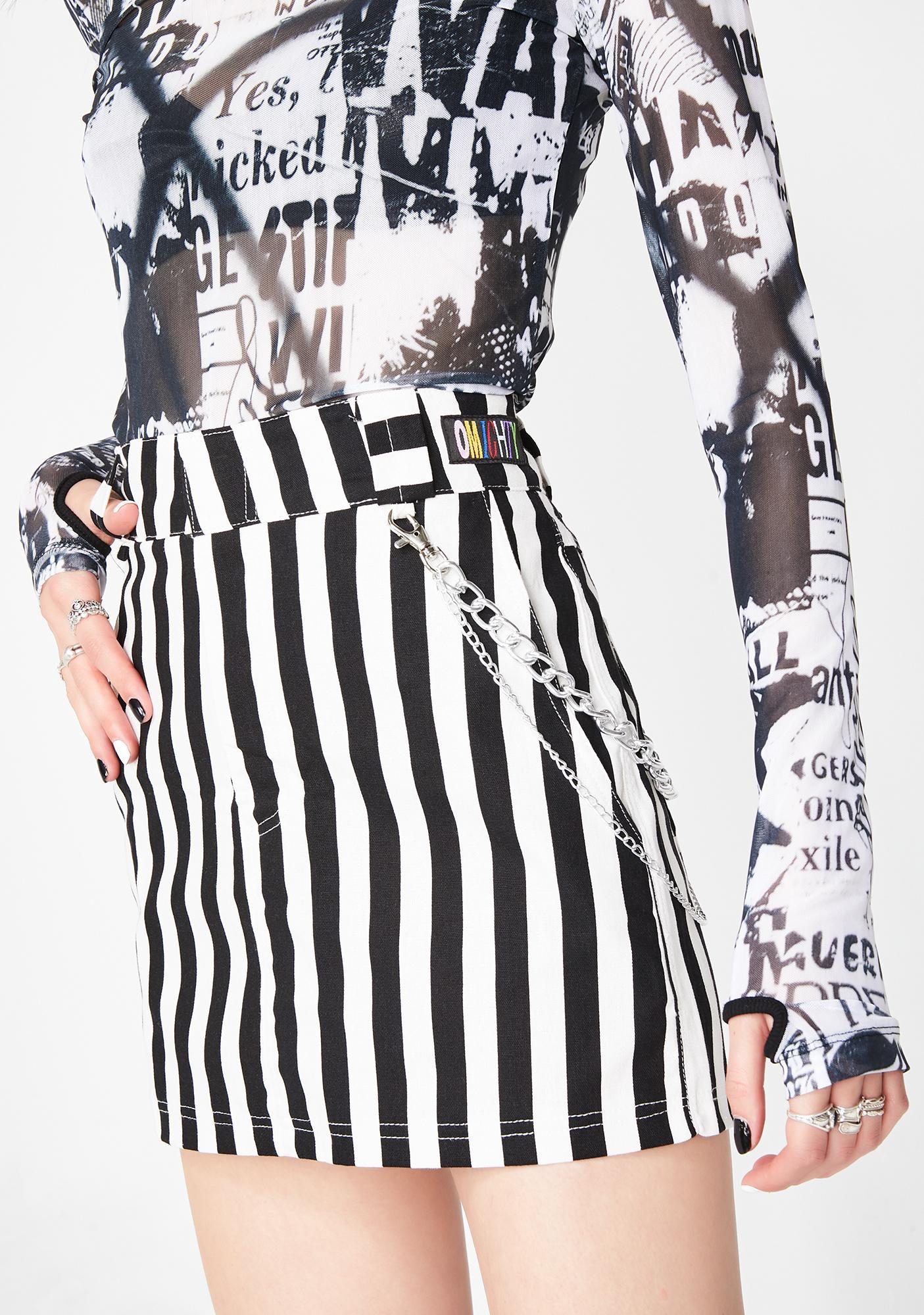 O Mighty Beetle Juice Chain Skirt
