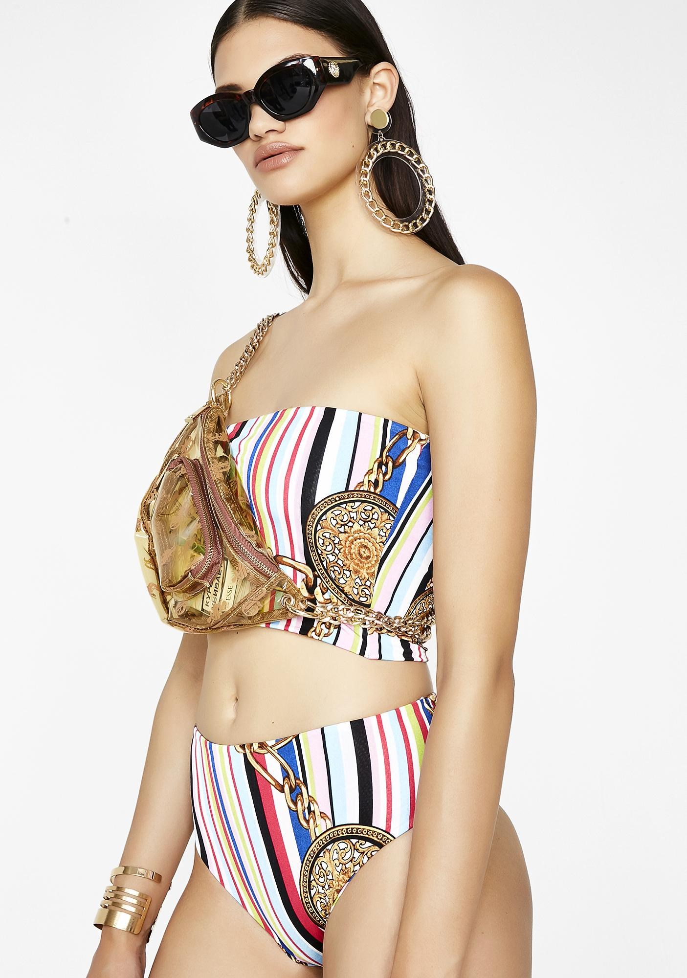 Rich At Heart Striped Set