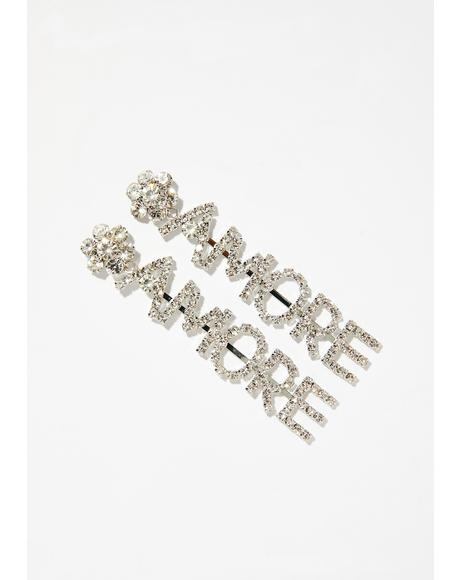 Mi Amor Rhinestone Earrings