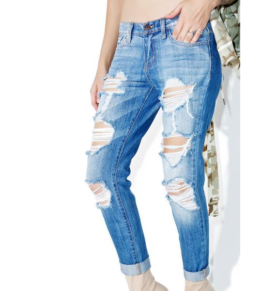 I'm Shredded Boyfriend Jeans