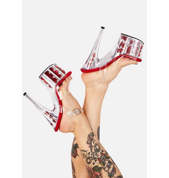 Pleaser Red Nymph Queen Platform Heels
