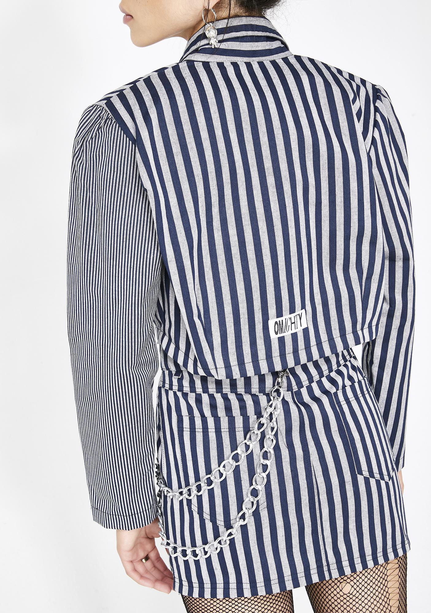 O Mighty Work Stripes Cropped Blazer