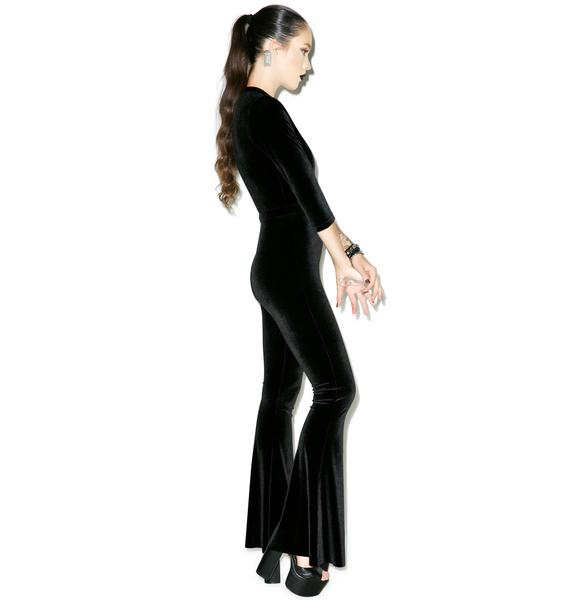 Sugarhigh + Lovestoned Ritchie Velvet Jumpsuit