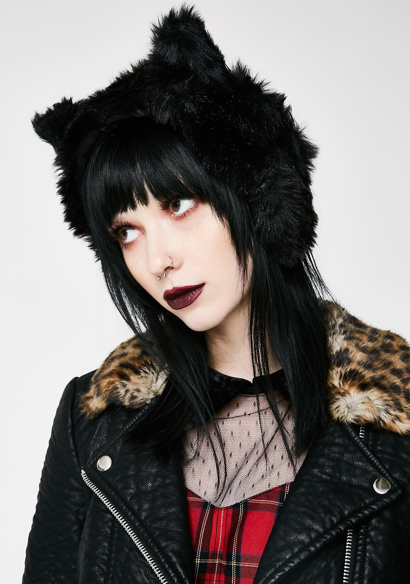Killstar Le Chat Noir Ear Muffs
