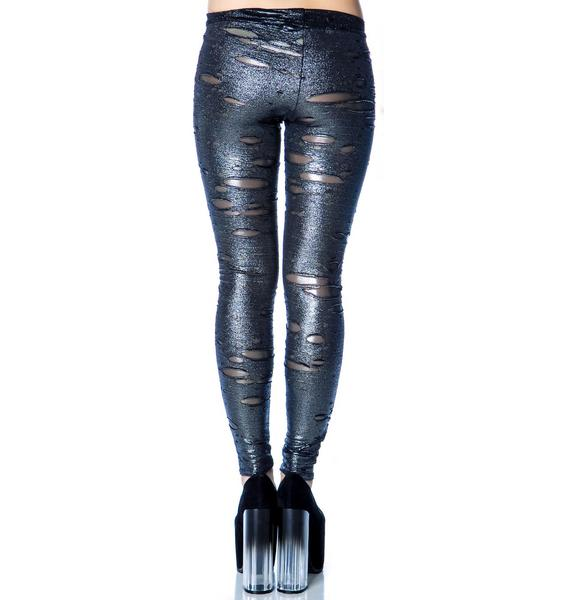 Our Prince of Peace Cat Scratch Leggings