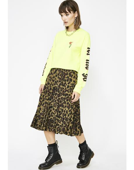 Dank Wild About You Leopard Skirt