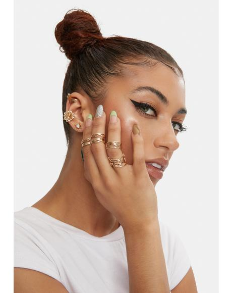 Totally Minimalist Ring Set