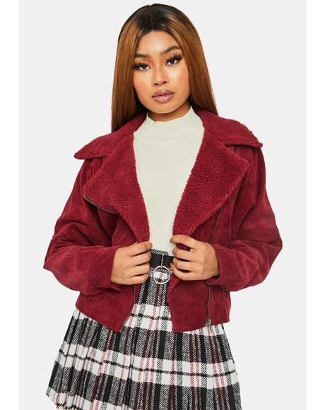 Wine Be My Mistake Corduroy Jacket
