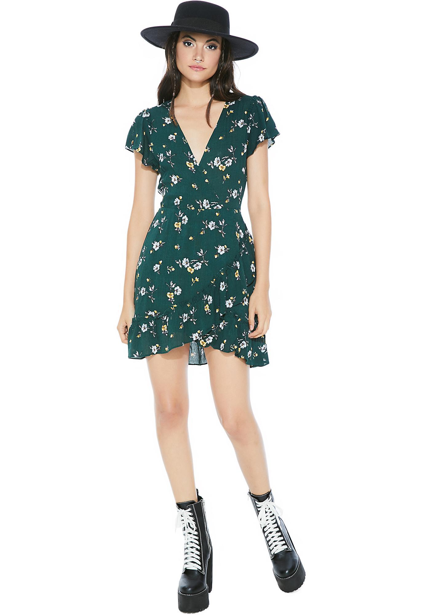 Evergreen Floral Dress