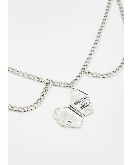 Tomb Traitor Coffin Locket Necklace