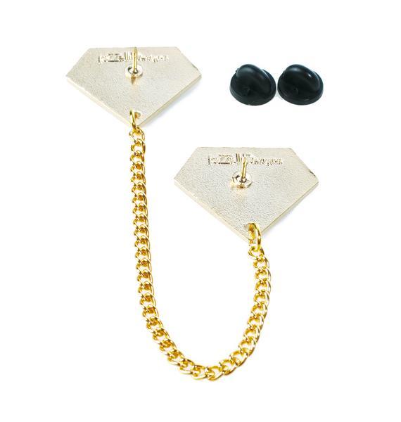 Rainbow Diamond Collar Pins