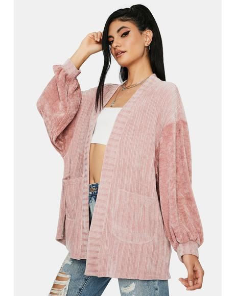 Rose Hear Me Out Open Cardigan