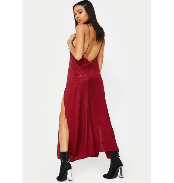 Motel Raspberry Cheetah Hime Dress
