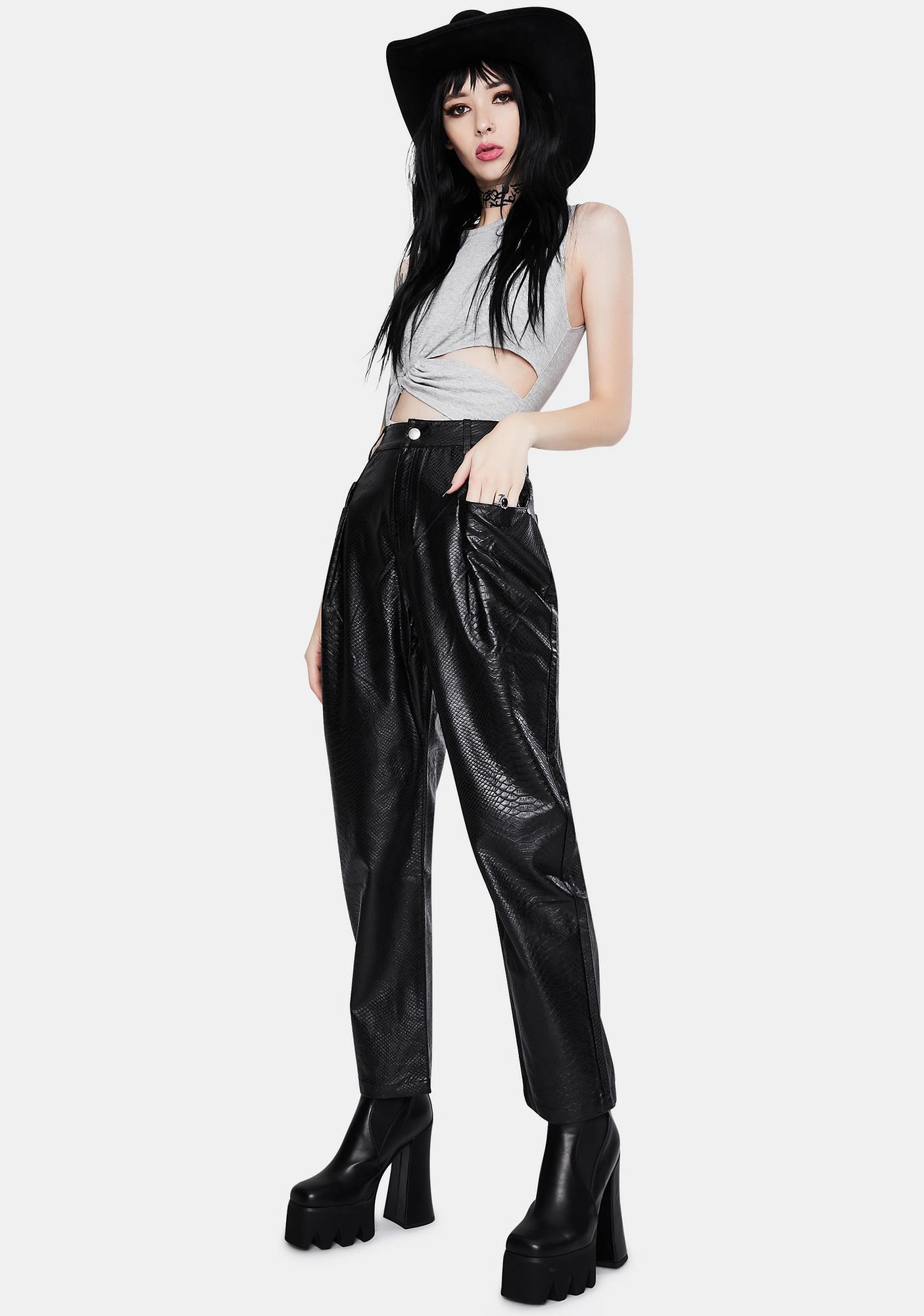 Twiin Snap Vegan Leather Pants