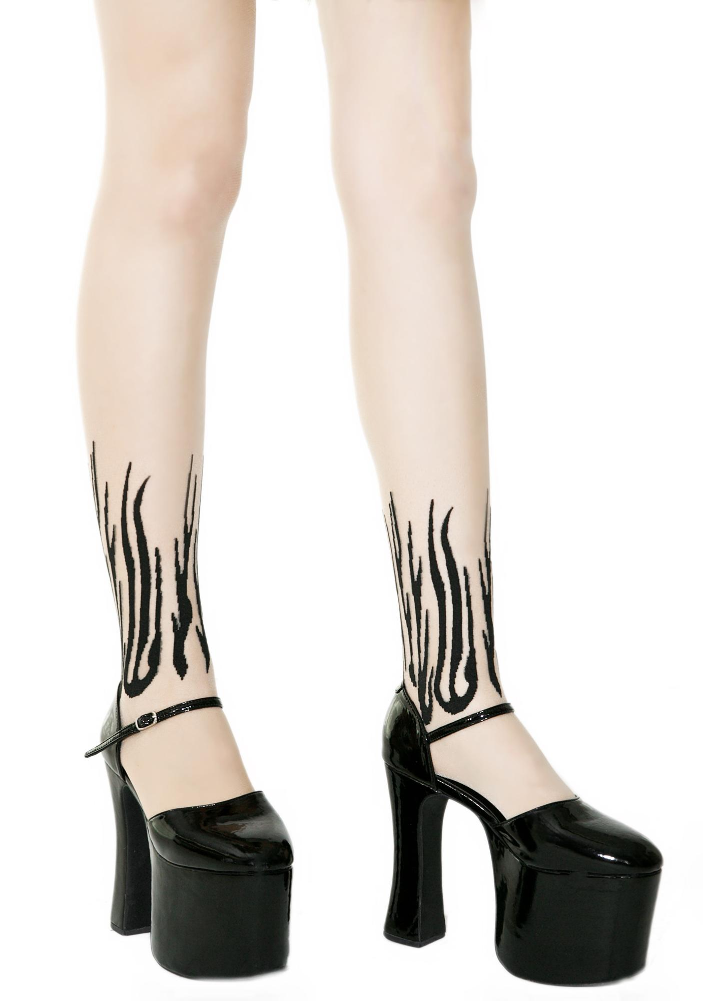 From Hades Flame Tights