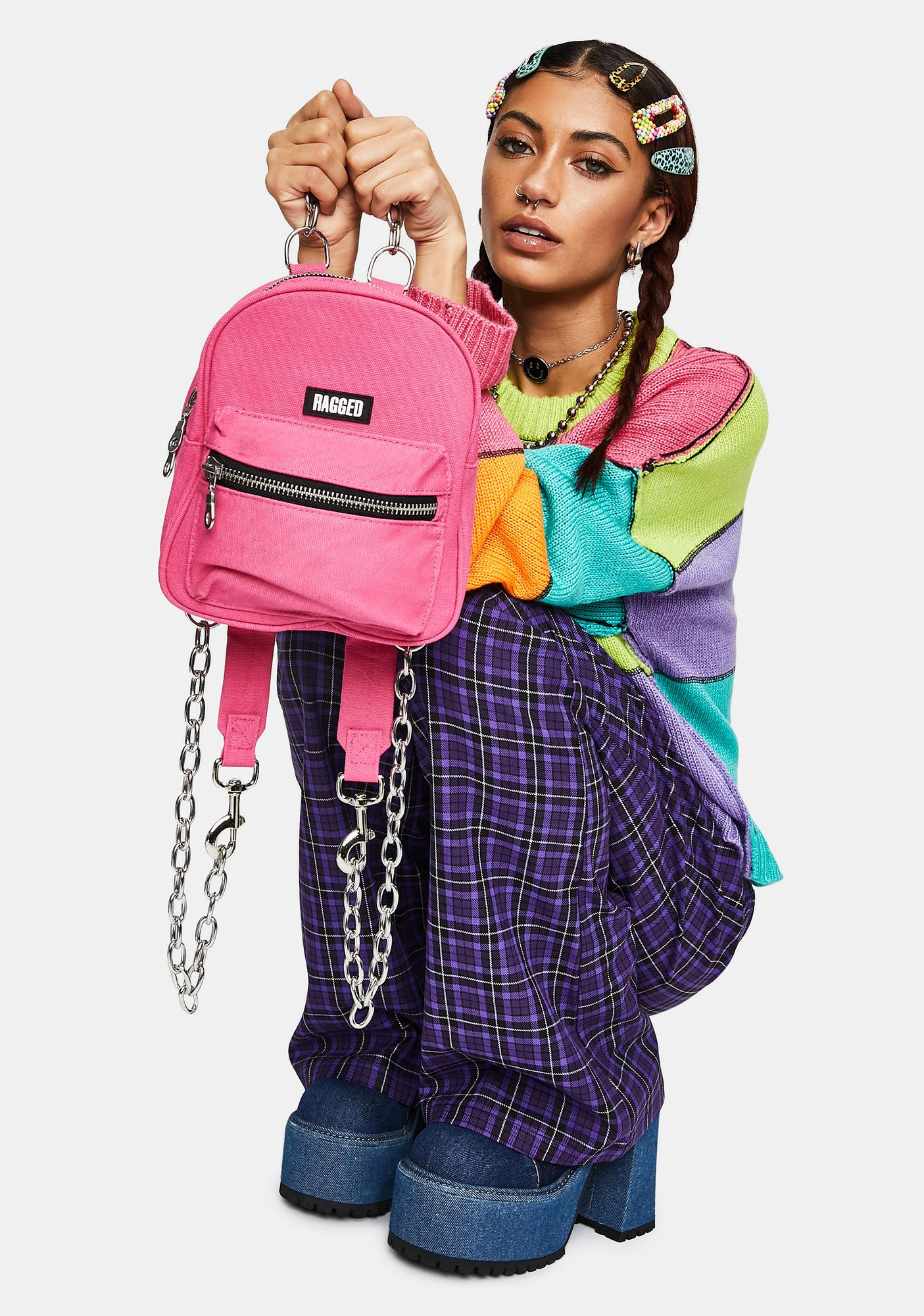 The Ragged Priest Pink Modest Mini Backpack