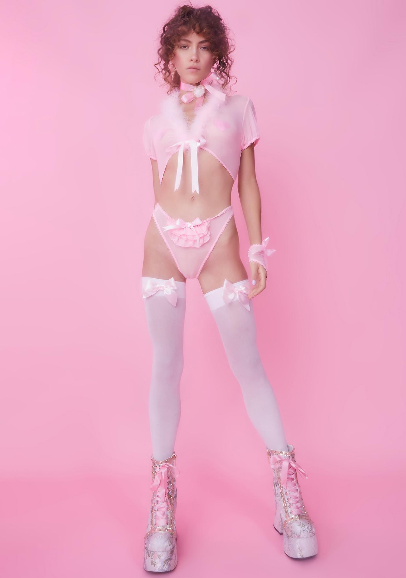 Sugar Thrillz Princess Please Sheer Panties Set
