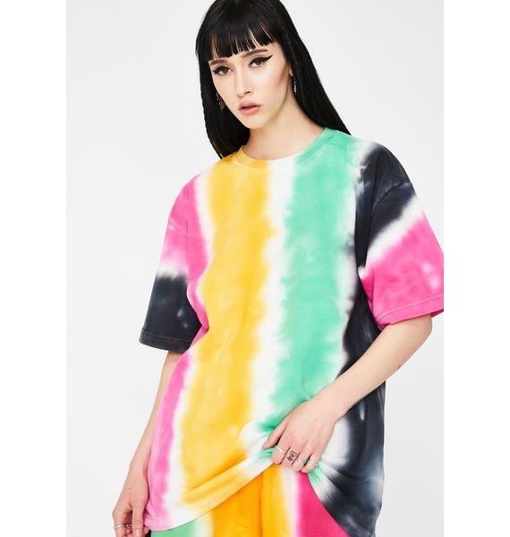 CHINATOWN MARKET All Over Stripe Print Tee
