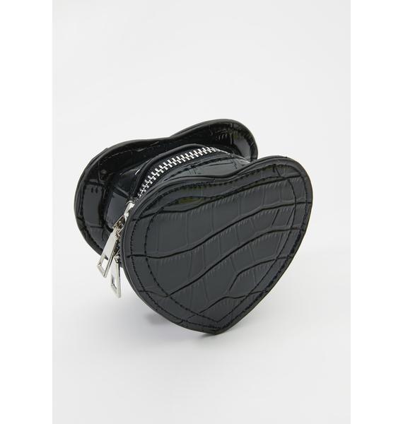Caught Feelings Mini Heart Bag