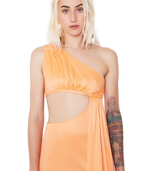 Vintage Funky Off-Shoulder Maxi Dress