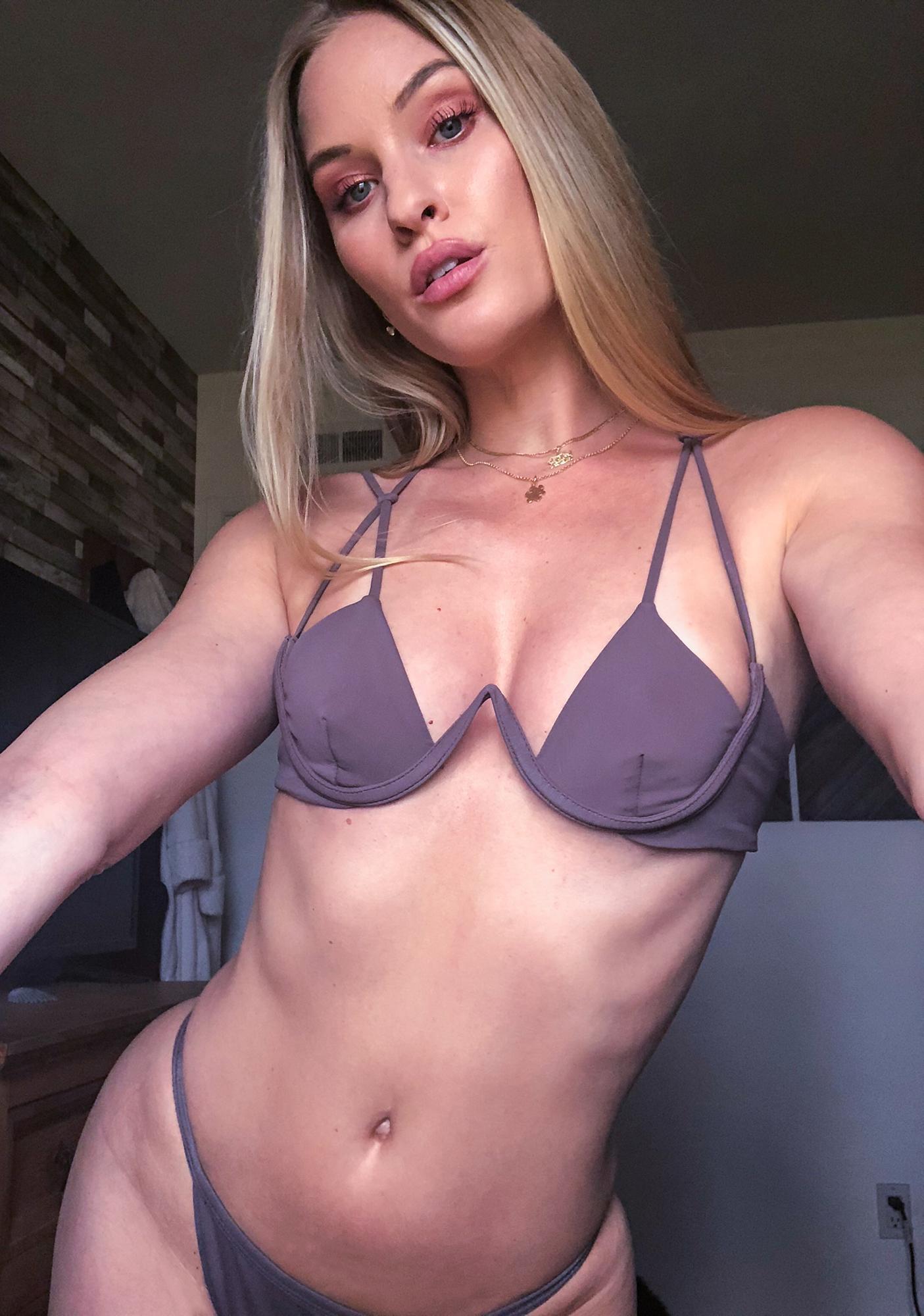 Siempre Golden Aries Cut Out Bikini Top