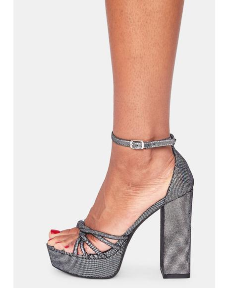 Silver Total Optimist Platform Heels