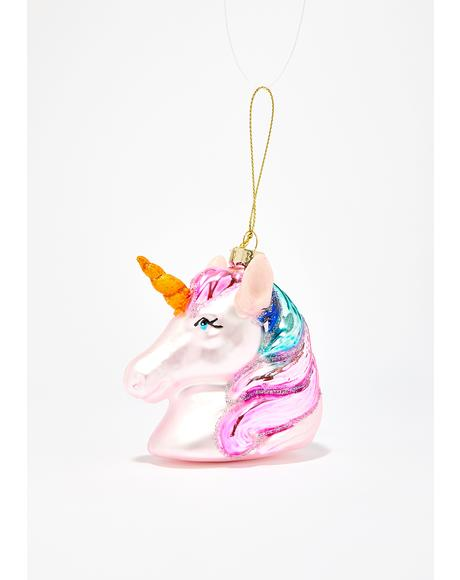 Sparkle Motion Unicorn Ornament