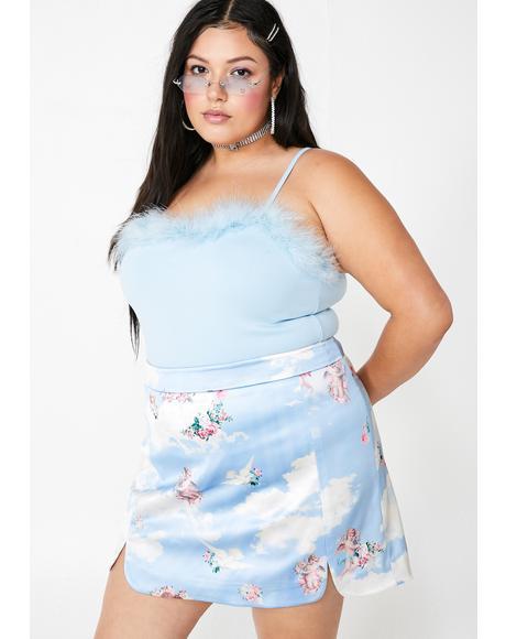 Lux Celestial Sass Satin Skirt