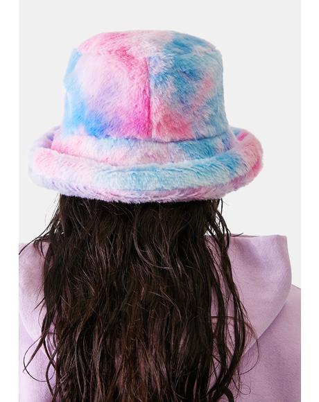 Candy Treats Tie Dye Fuzzy Bucket Hat