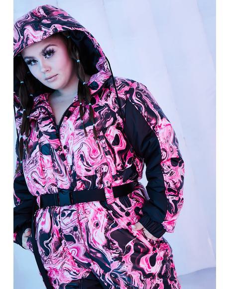 Divine Lady Acid Dimension Puffer Snowsuit