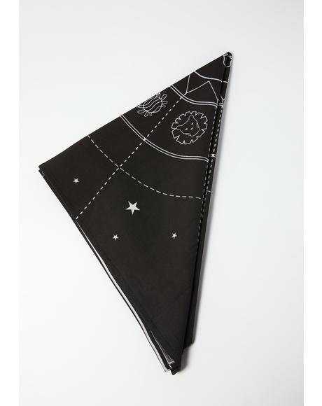 Celestial Objects Astrology Altar Cloth