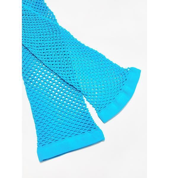 Enchanted Siren Fishnet Gloves