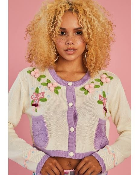 Believe In Tomorrow Embroidered Cardigan