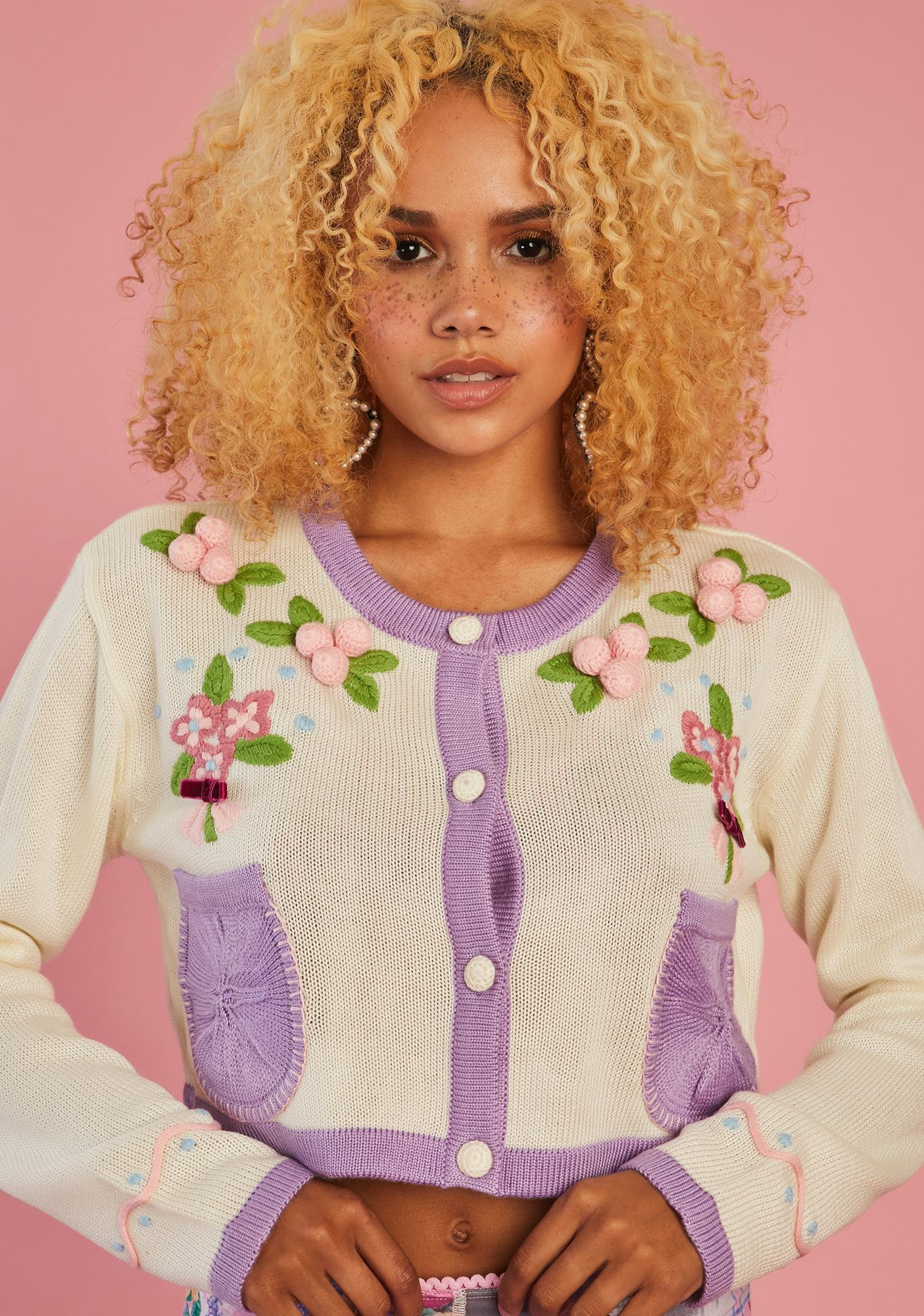 Sugar Thrillz Believe In Tomorrow Embroidered Cardigan