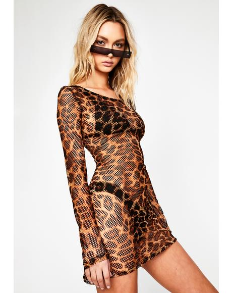 Catty Intentions Mesh Dress
