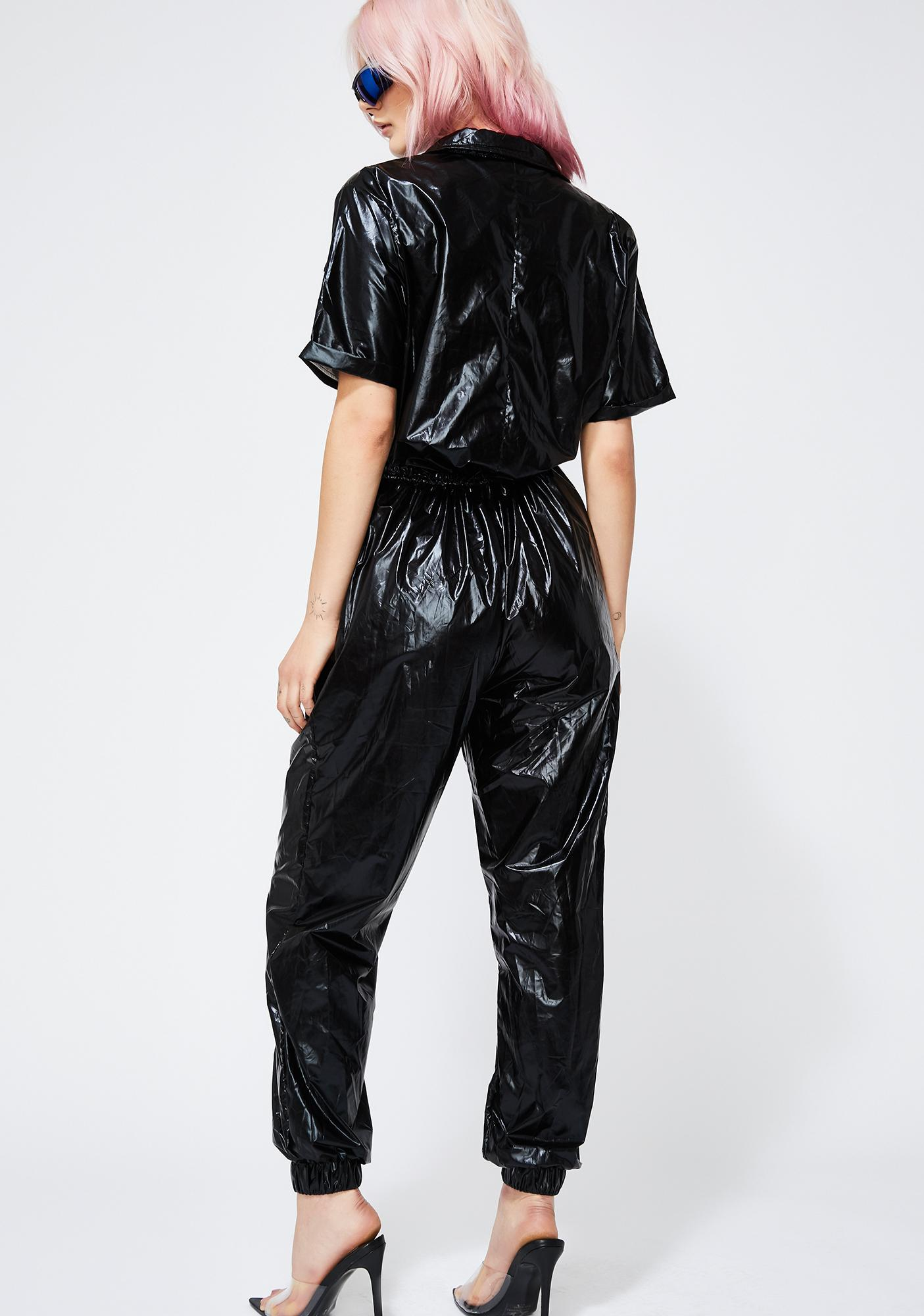 Onyx Chroma Collision Metallic Jumpsuit