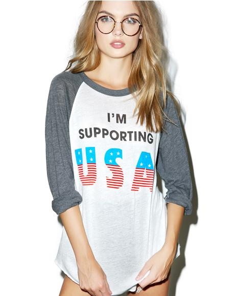 Athletic Supporter Raglan Tee