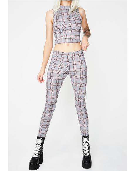 Highly Professional Plaid Set