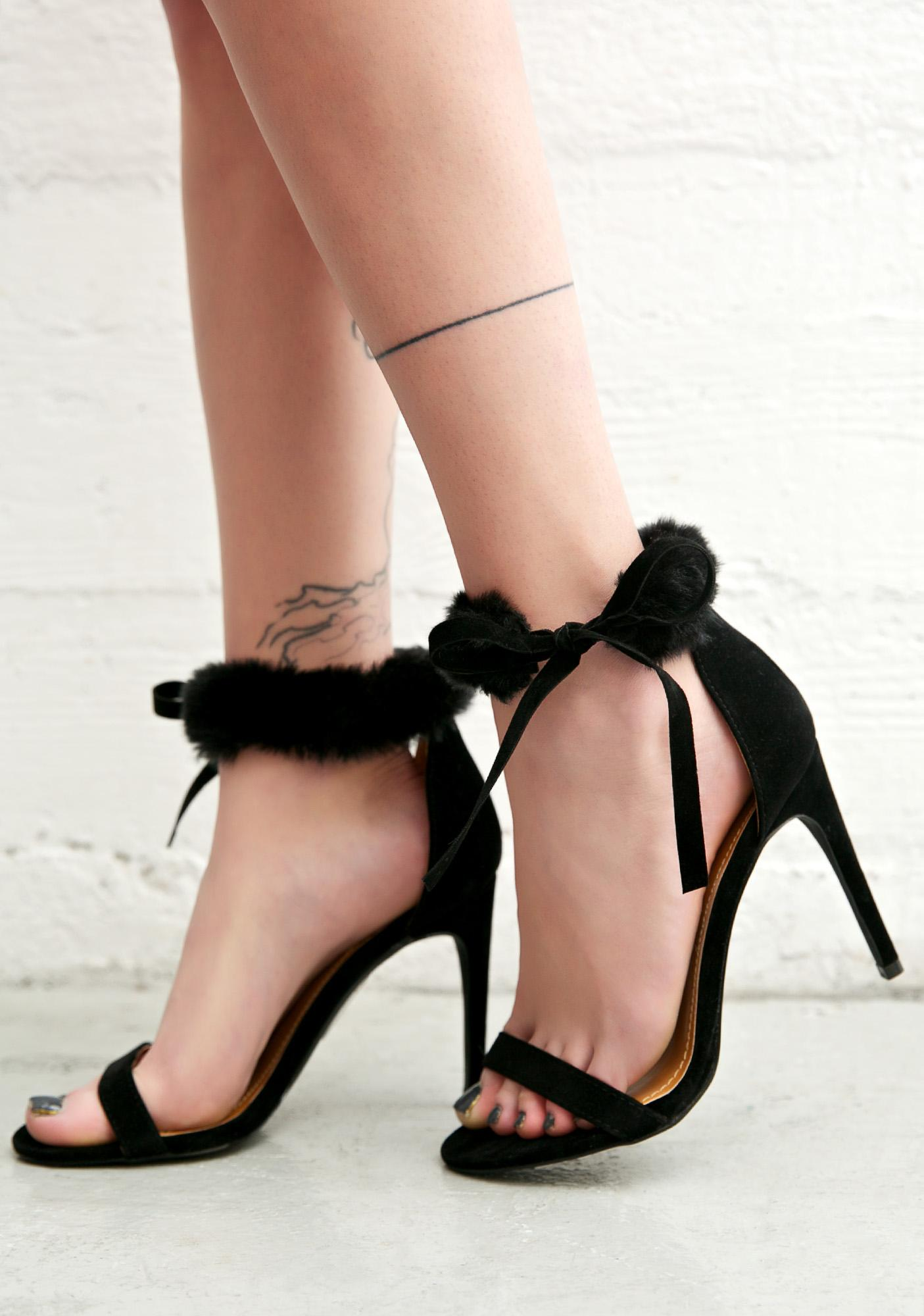 So Risque Fuzzy Heels