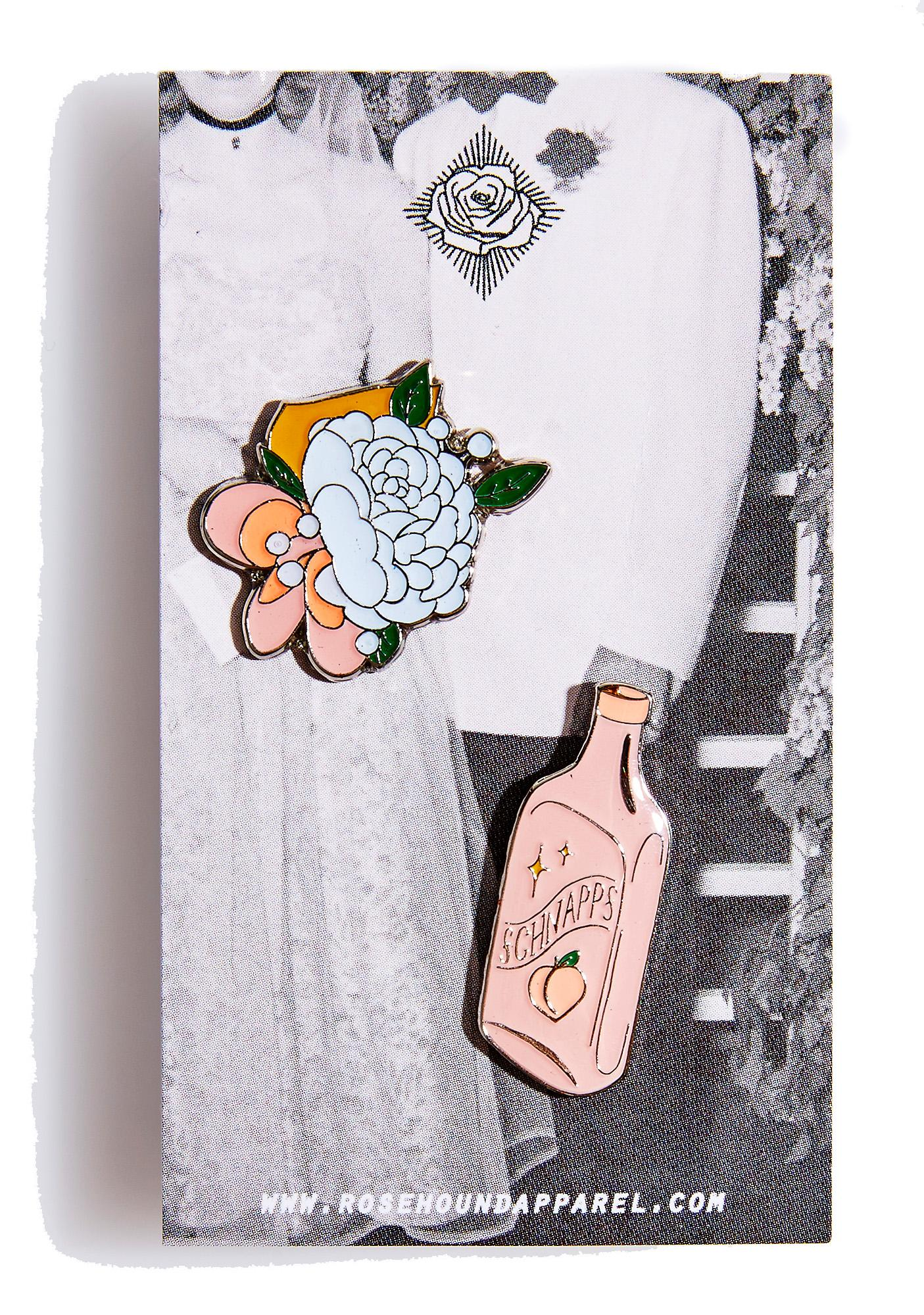 Rosehound Apparel Prom Nite Enamel Pin Set