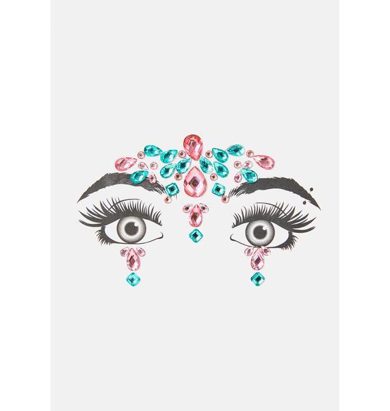 Magenta Cosmic Temple Face Gems