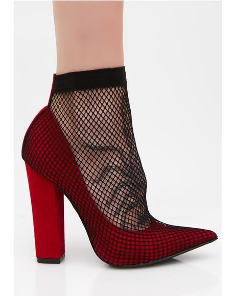 Lady Is A Vamp Fishnet Heels