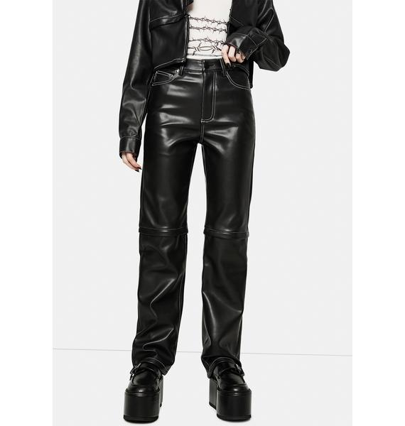 Nii HAi Detach Vegan Leather Trousers