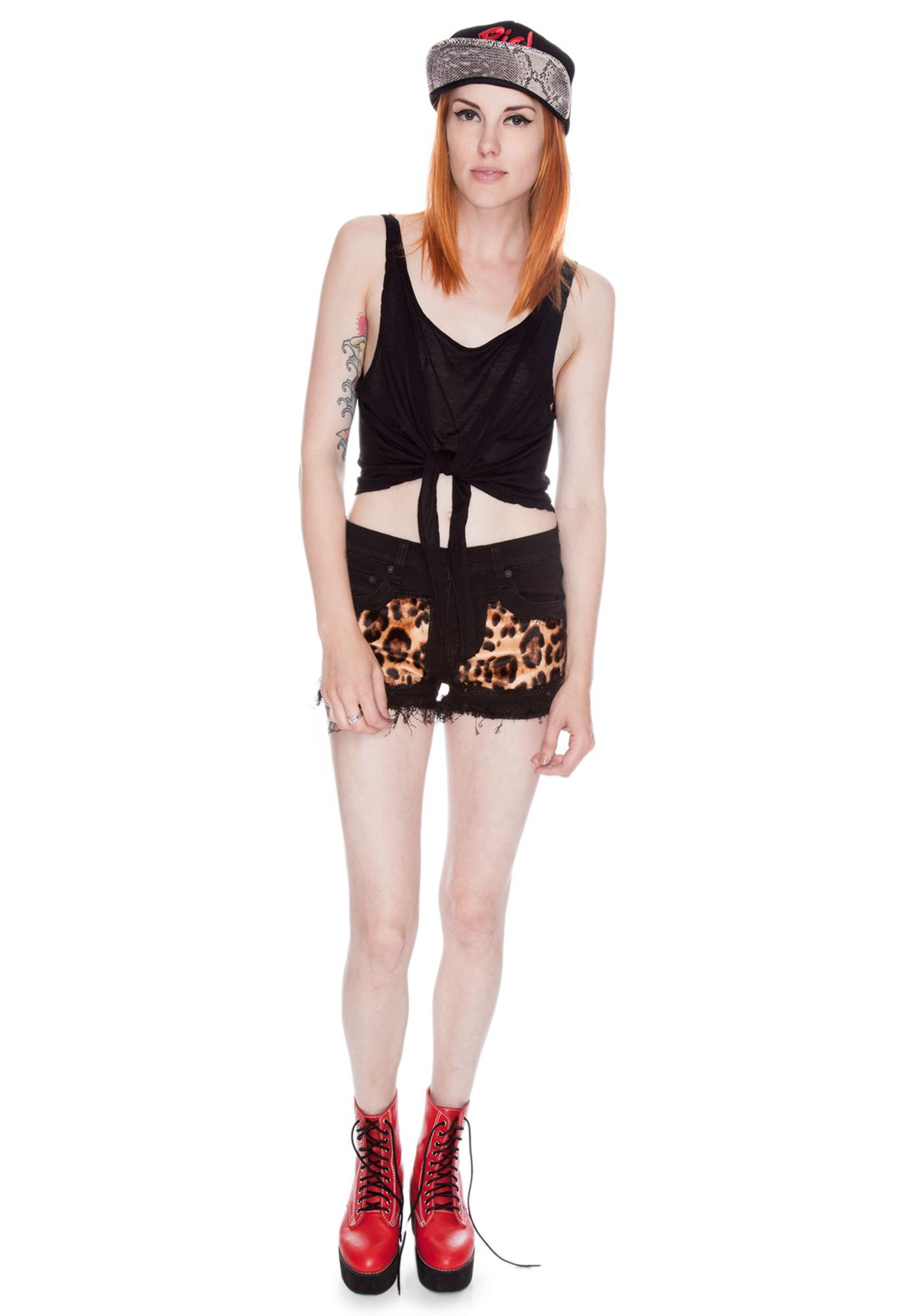Joyrich Patch Leopard Shorts