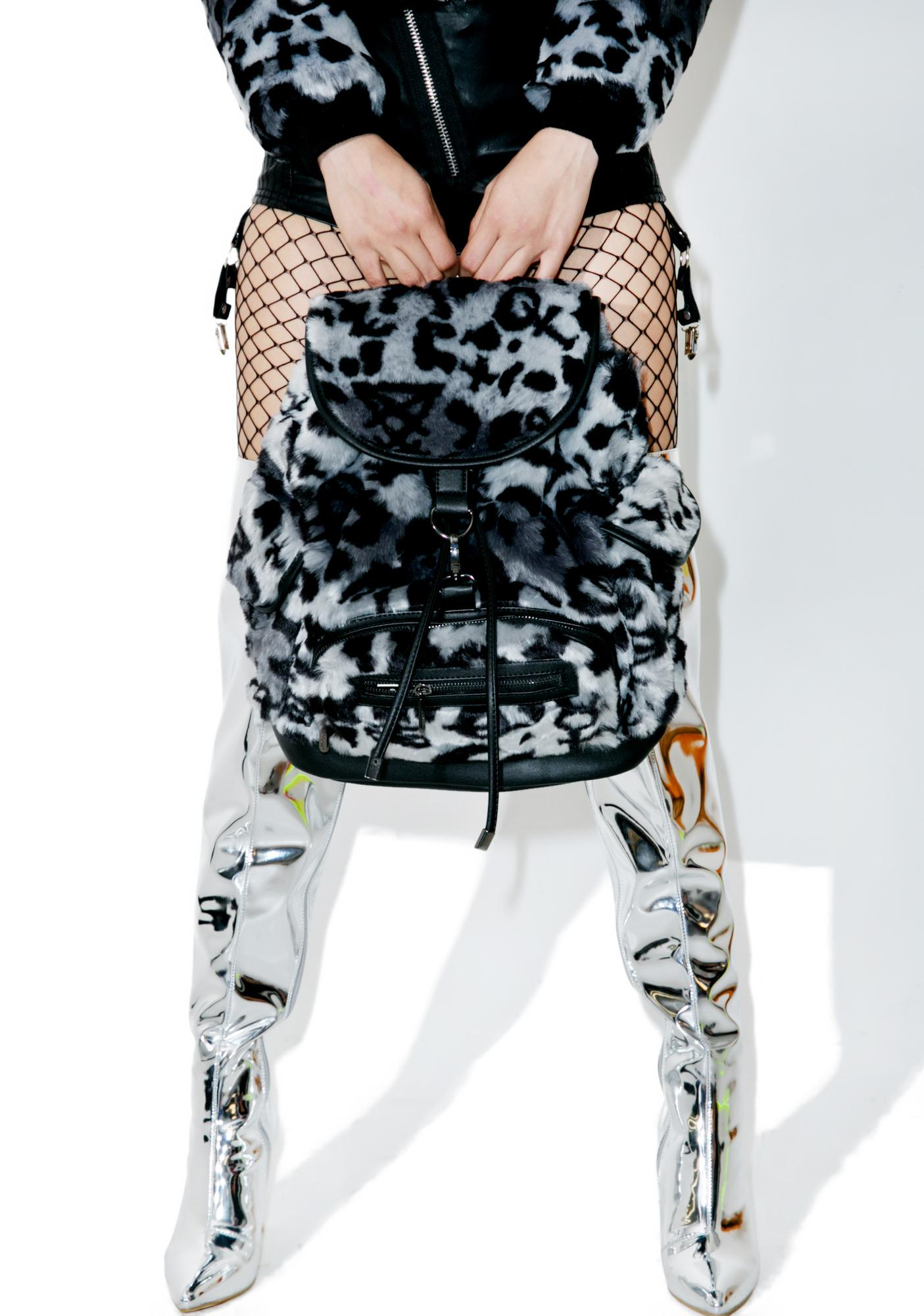 Killstar Sinergy Playdate Fur Backpack