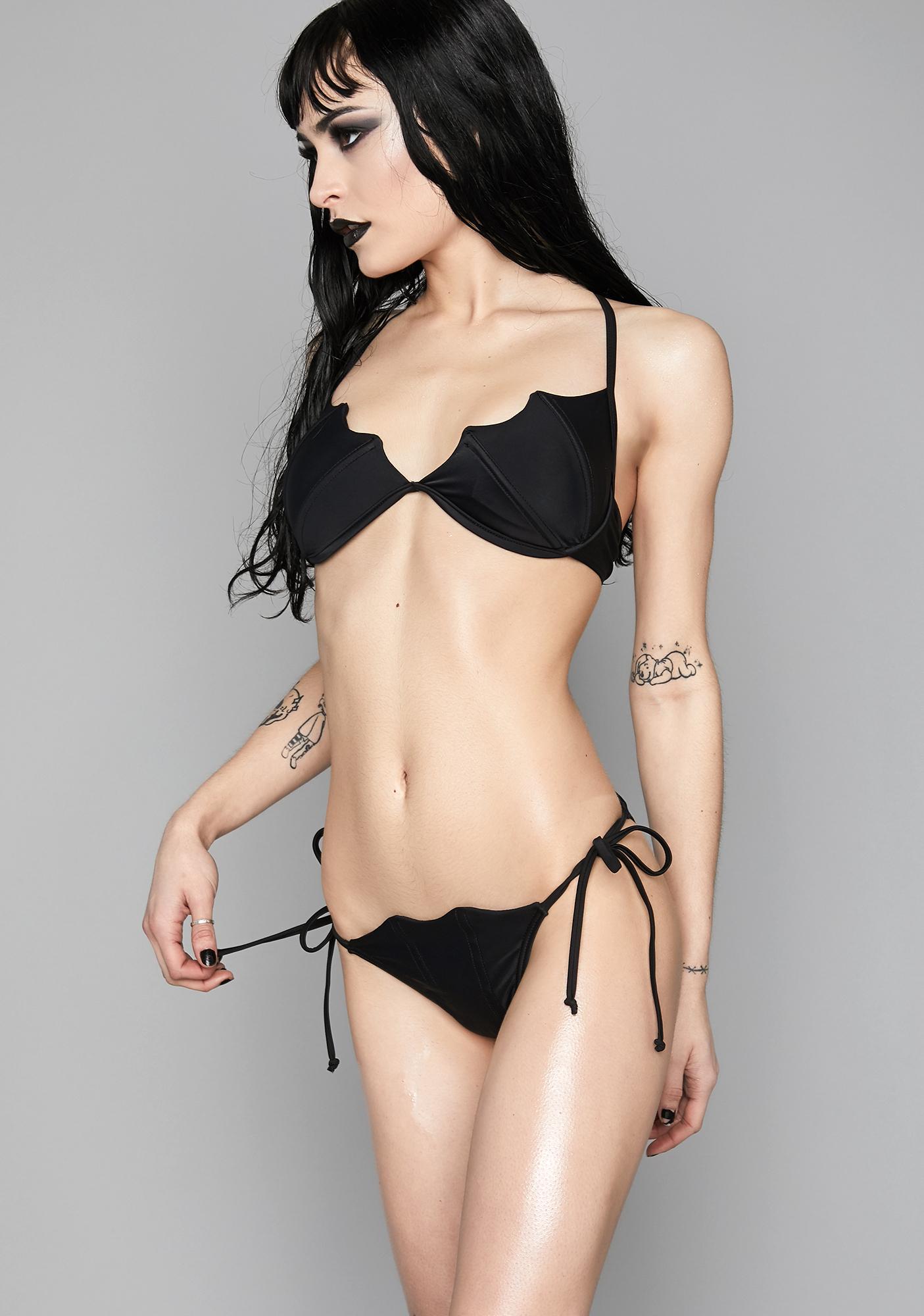 64bb0d7c904 Widow Mistress of The Sea Bat Bikini | Dolls Kill